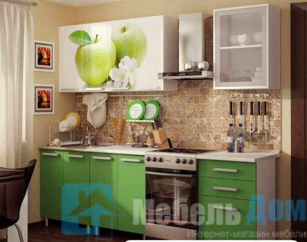 Кухня Фруттис фотопечать ЛДСП 1,8 м   (б)