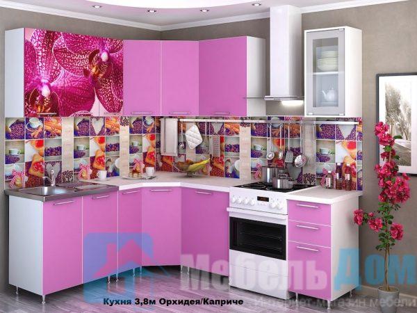 """Кухня """"Орхидея"""" Каприче угловая (р)"""