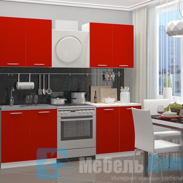 Кухня Красный 1,6 м (м)