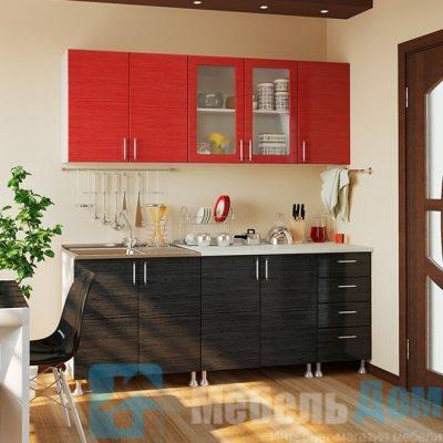 Кухня Микс Красно Черный 2 м   (м)