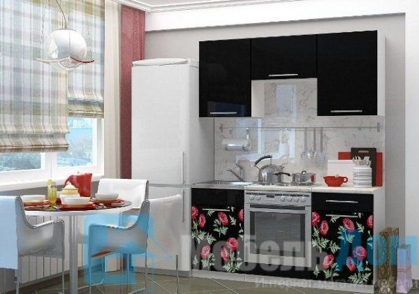 Кухня Маки черные 1,6   (м)