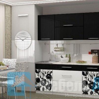 Кухня Маки черные 1,8   (м)