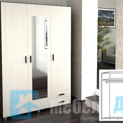 Шкаф 3-х створчатый с ящиками ШК-302 (р)