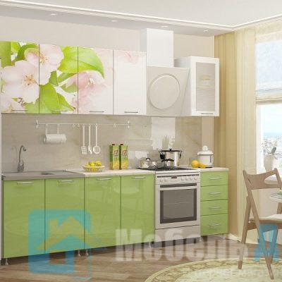 Кухня Яблоневый цвет фотопечать МДФ 2 м   (м)