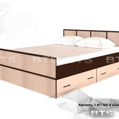 «Сакура» Кровать 1,4 (б)