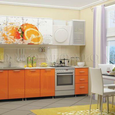 Кухня  Апельсин фотопечать ЛДСП 2 м   (м)