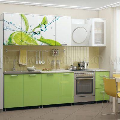 Кухня Лайм фотопечать МДФ 2 м   (м)