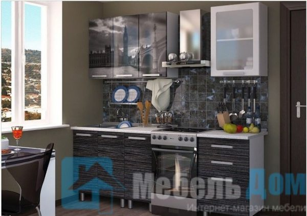 Кухня Лондон фотопечать МДФ 1,6 м (б)