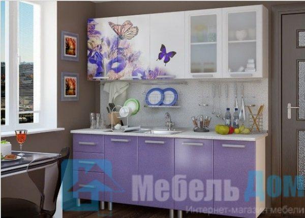 """Кухня """"Люкс"""" Ирис фотопечать МДФ 2 м (б)"""