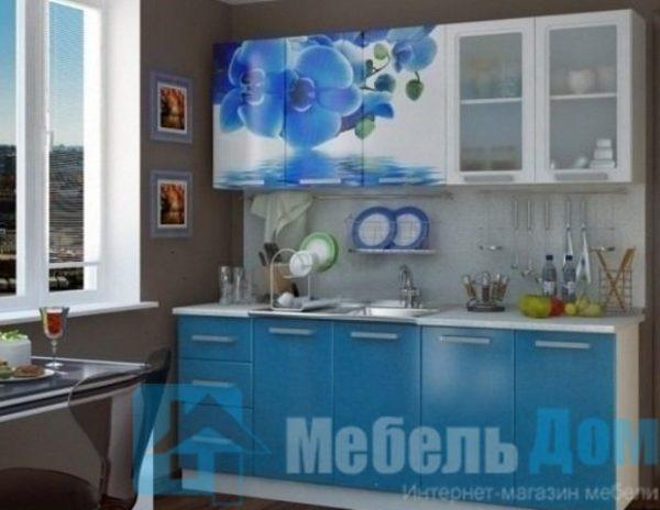 """Кухня """"Люкс"""" Лазурь фотопечать МДФ 2 м (б)"""