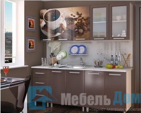 "Кухня ""Люкс"" Шоколад МДФ 2 м (б)"
