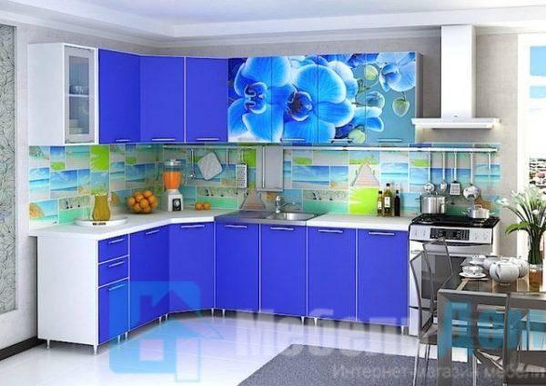 """Кухня """"Орхидея"""" угловая (р)"""