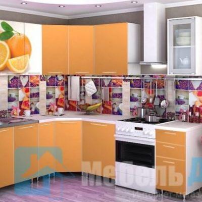 Кухня Апельсин угловая   (р)