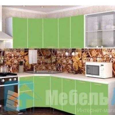 Кухня Радуга Зеленая мамба угловая   (р)