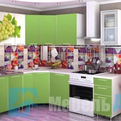 Кухня «Виноград» угловая (р)