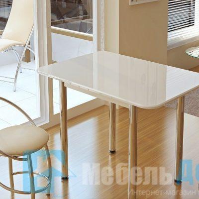 Обеденный стол Белый глянец (б)