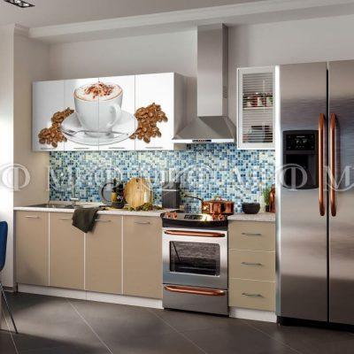 Кухня Кофе фотопечать ЛДСП 2 м   (м)