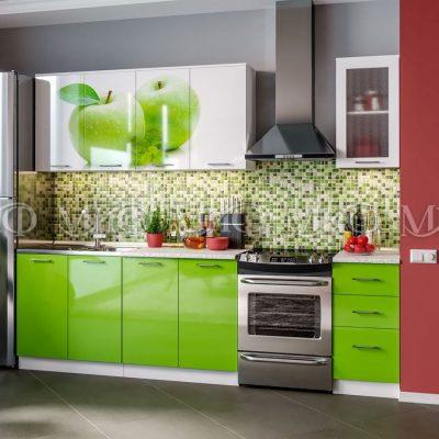 Кухня Яблоко фотопечать ЛДСП 2 м   (м)