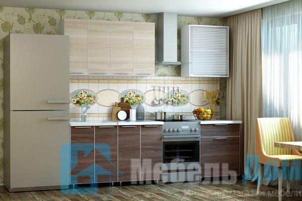 "Кухня ""Радуга"" 1,8 м. Зеленая мамба (р)"