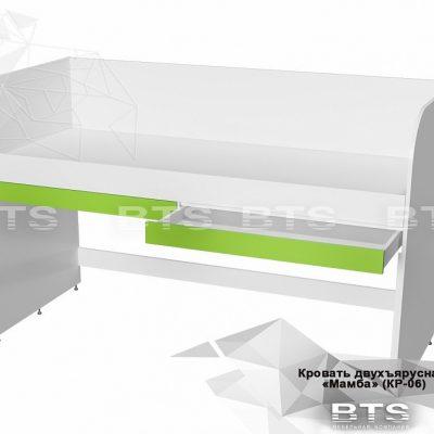 «Мамба» Кровать двухъярусная с ящиками КР-06 (б)