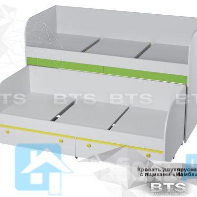Кровать двухъярусная с ящиками «Мамба» КР-06 (б)