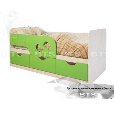 Кровать детская «Минима Лего» Лайм (б)