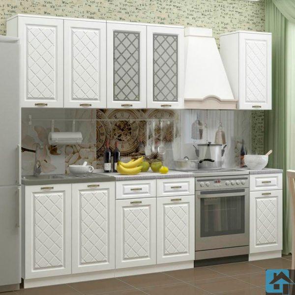 Кухня Ирина МДФ белый (м)
