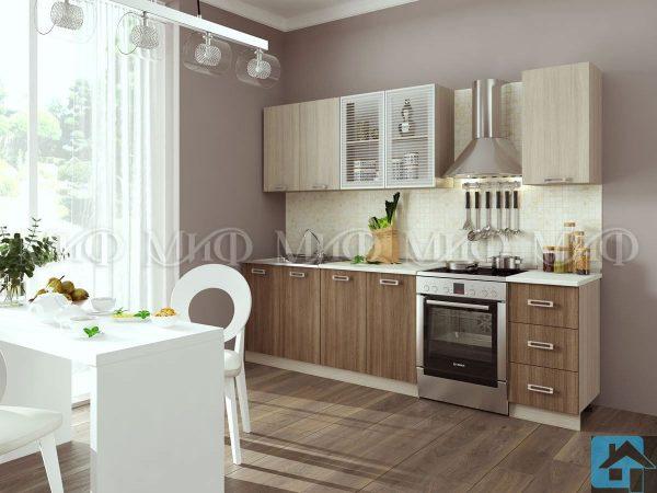 Кухня Катя ЛДСП ясень (м)