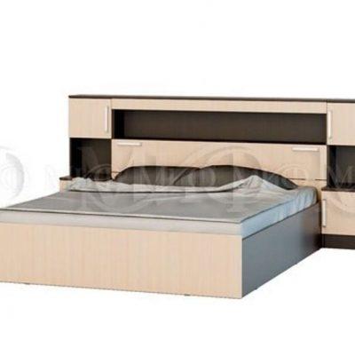 Кровать с надстройкой с тумбами «Бася» (м)