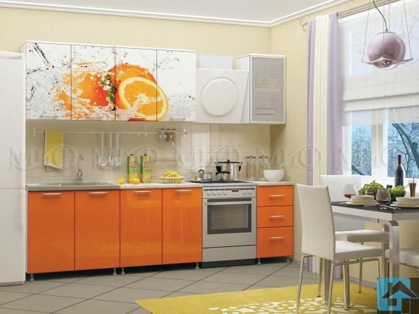 Кухня Апельсин фотопечать МДФ (м)