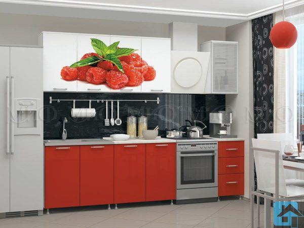 Кухня Малина фотопечать МДФ  (м)