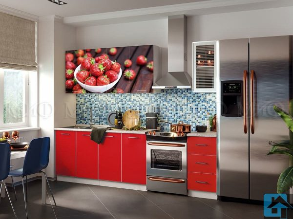 Кухня ЛДСП с фотопечатью 2,0м (м)