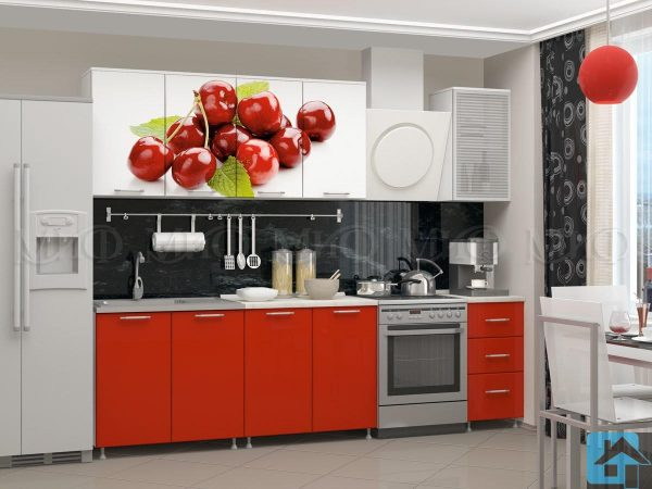 Кухня Вишня фотопечать МДФ 2,0м (м)