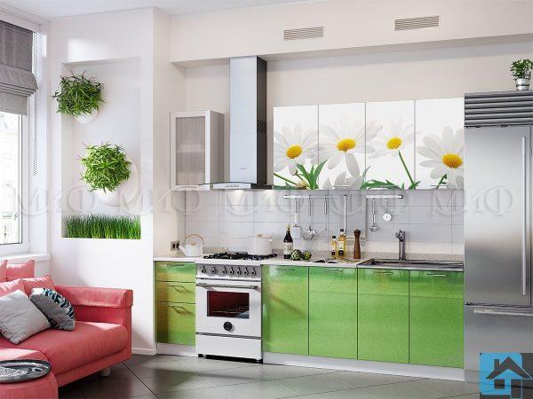 Кухня Ромашки-2 фотопечать МДФ (м)