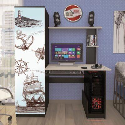 Стол компьютерный с фотопечатью КС-001 (иц)