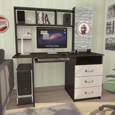 Стол компьютерный КС-002 с фотопечатью (иц)