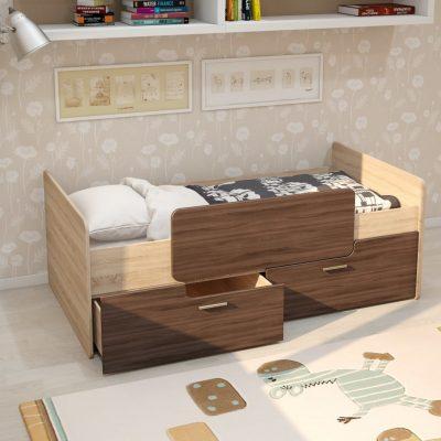 Кровать «Умка»с ящиками и ограничителем ЛДСП (иц)