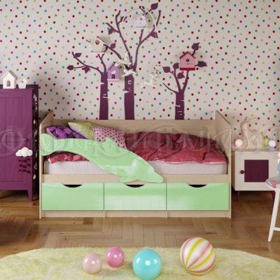 Кровать «Дельфин-1» Салатовый (м)