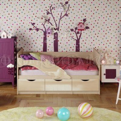 Кровать «Дельфин-1» Ваниль (м)
