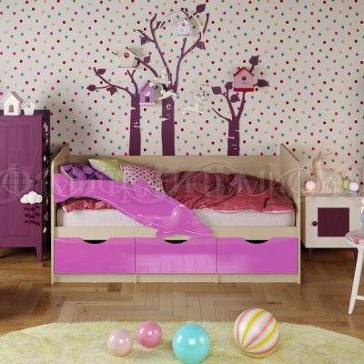 Кровать «Дельфин-1» Сиреневый (м)