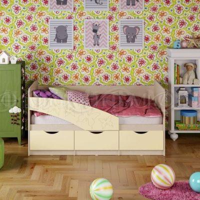 Кровать «Бабочки» Ваниль (м)