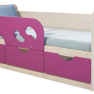 Детская кровать «Минима» Лиловый сад (б)