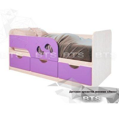 Кровать детская «Минима Лего» Лиловый сад (б)
