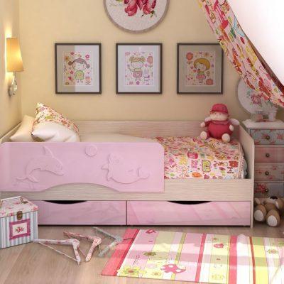 Кровать «Алиса» Розовый (см)
