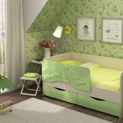 Кровать «Алиса» Салатовый (см)