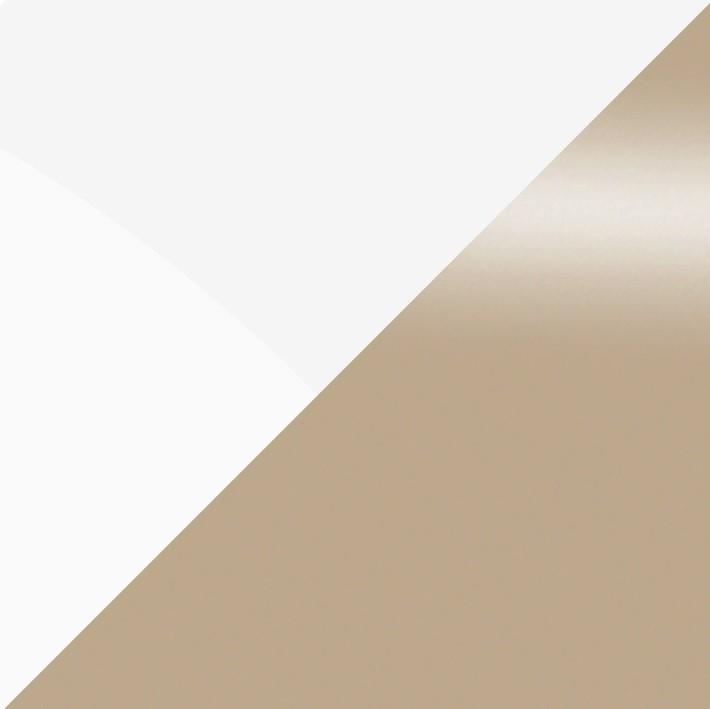 Белый металлик/Кофе с молоком глянец