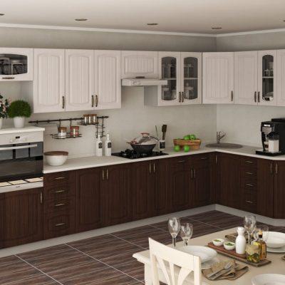Кухонный гарнитур угловой 3,80*1,66 м  «Гренада» (иц)