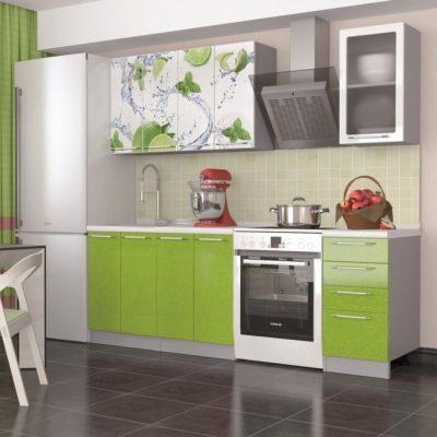 Кухня «Олива» МДФ с фотопечатью 2,0 м. (иц)