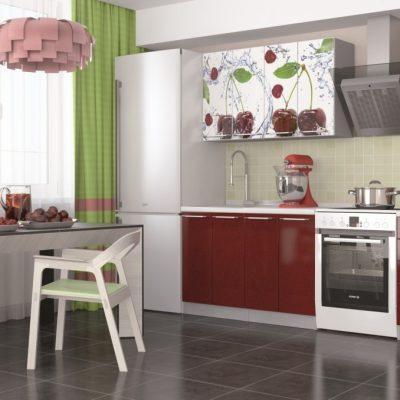 Кухня «Олива» МДФ с фотопечатью 1,8 м. (иц)