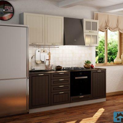 Кухонный гарнитур Лондон 2,10м верх дуб крем (иц)